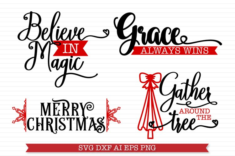Mini Christmas SVG Bundle - 4 Christmas Sign Designs