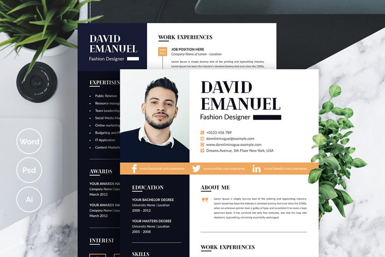 Modern Creative Resume Template example image 1