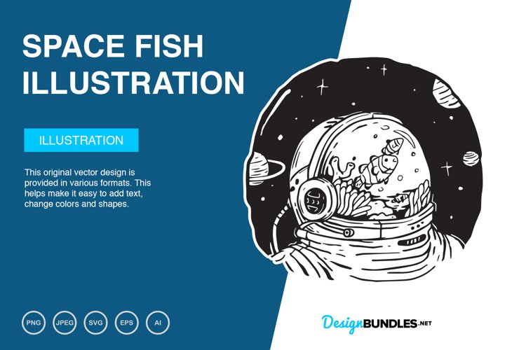 Space Fish Vector Illustration
