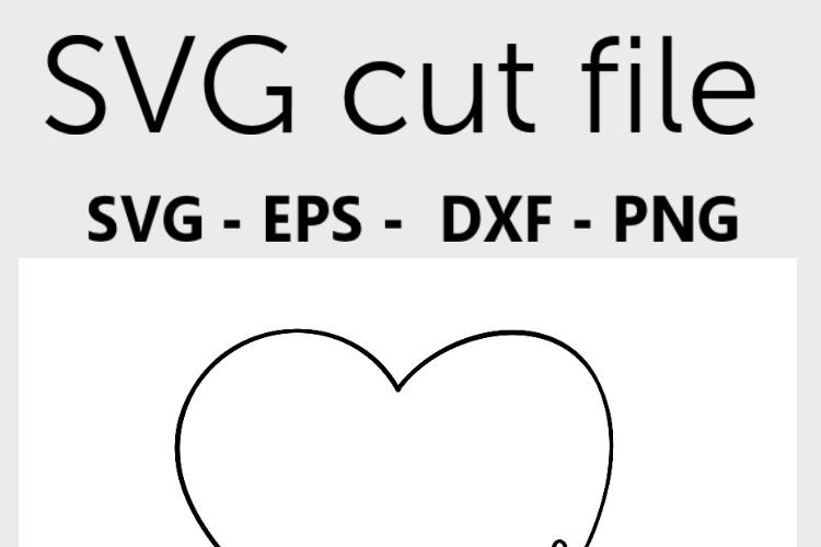 Love SVG in a heart - Valentine SVG, handlettered example 3