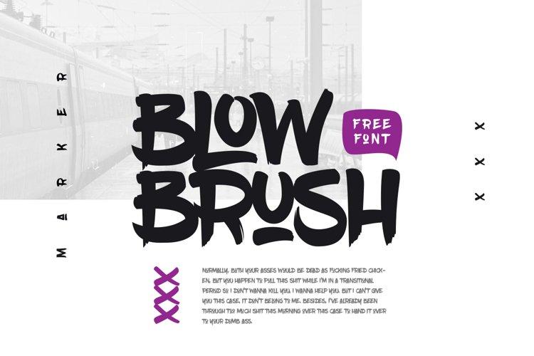 BlowBrush example