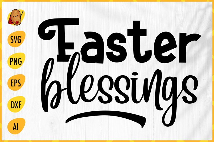 Easter Blessings SVG - Easter SVG - Easter Cut File example image 1