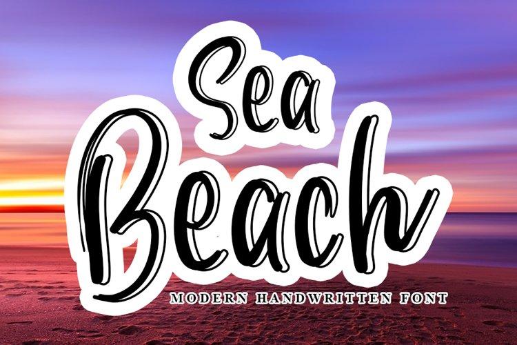 Sea Beach - Modern Handwritten Font example image 1