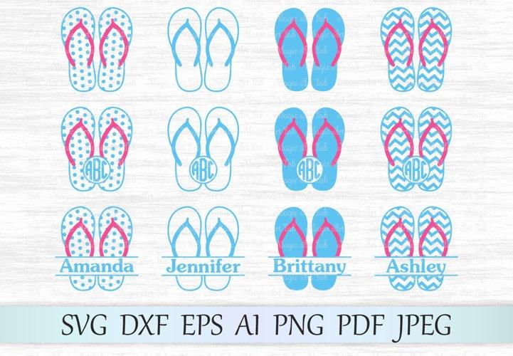 Flip flop svg, Flip flop clipart, Flip flop svg file, Flip flops monogram, Flip flops, Flip flop cut file, Flip flop design, Summer