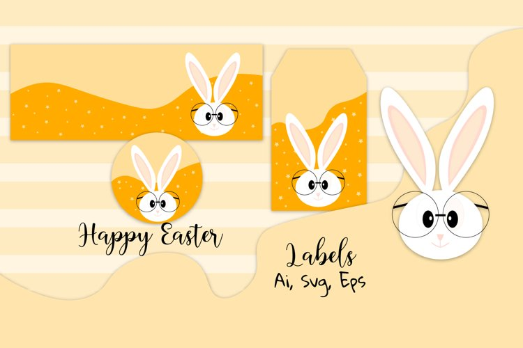 Easter svg, Easter labels, Easter bunny example image 1