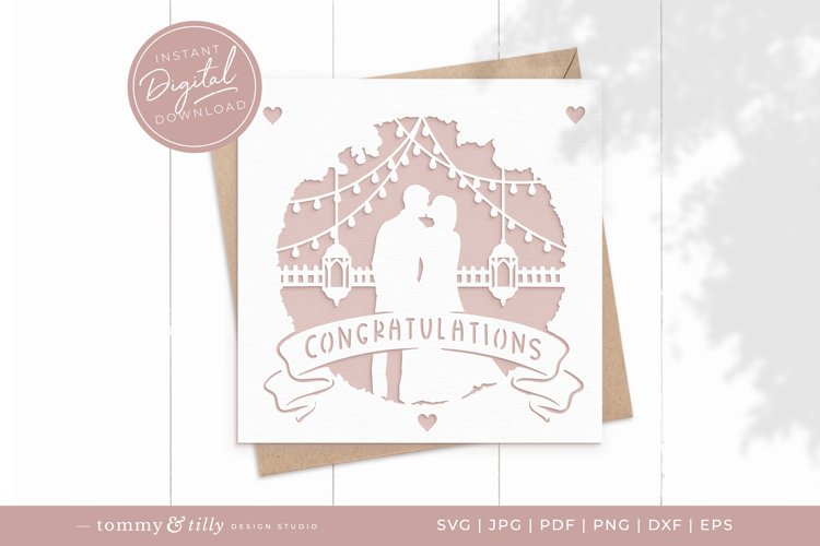 Congratulations Wedding Card SVG for Cricut and Silhouette