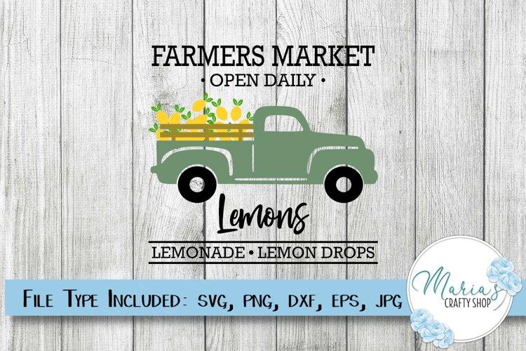 Lemon SVG, Farmers Market Lemons with truck SVG, Sign SVG