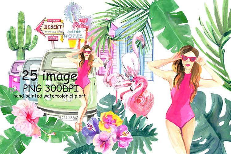 Summer Paradise Clipart example image 1