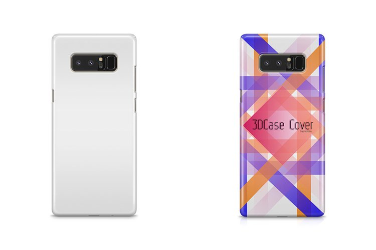 Samsung Galaxy Note 8 3dCase Mockup Back example image 1
