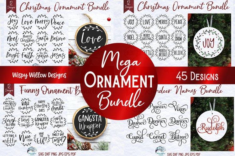 Mega Christmas Ornament SVG Bundle | Round Christmas Designs example image 1