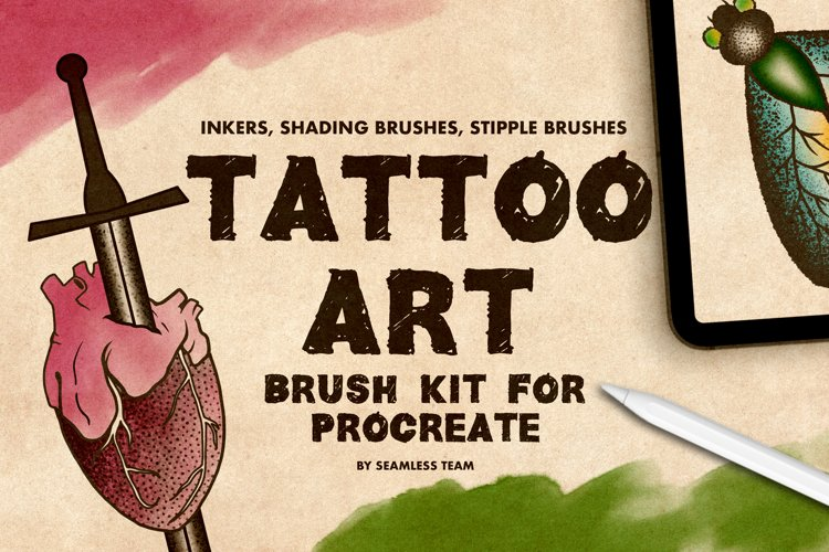 TATTOO ART BRUSH KIT FOR PROCREATE