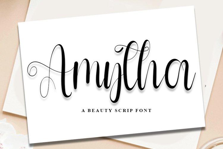 Amytha - A Beauty Script Font example image 1