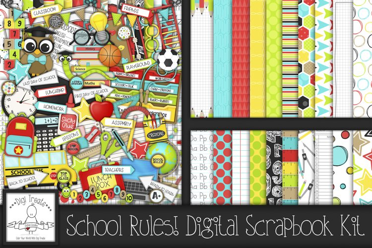School Rules! Digital Scrapbook Kit.