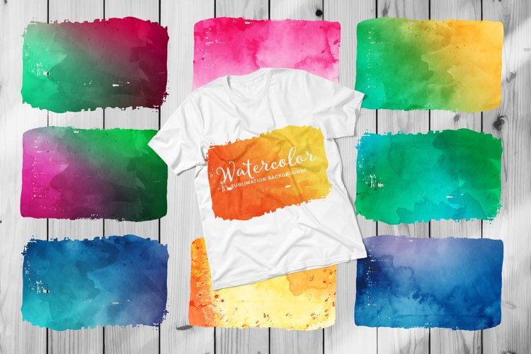 Sublimation Backgrounds - Watercolor Textures