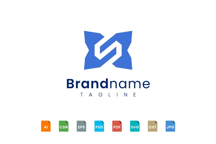 Abstract letter S logo template example image 1