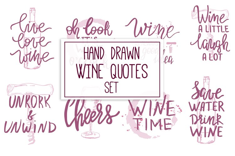 Hand Drawn Wine Quotes example image 1