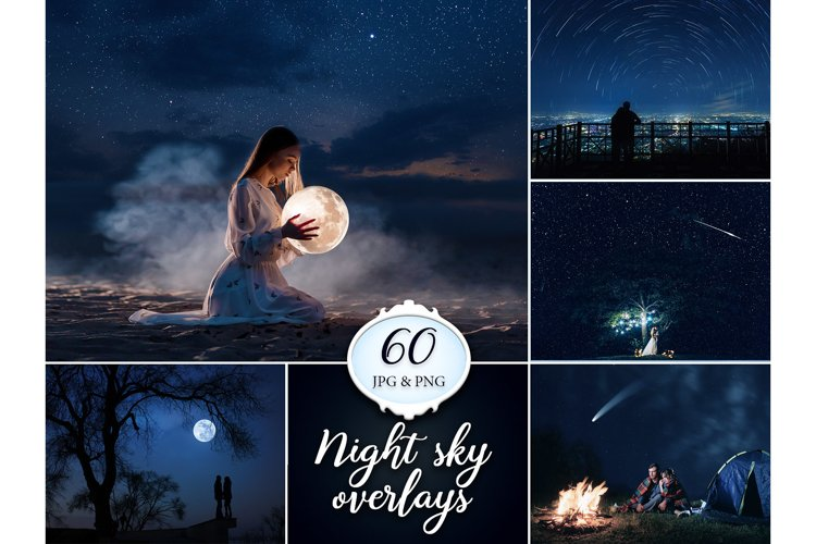 60 Night and Starry Sky Photo overlays example image 1