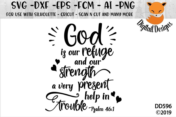 Psalm 46-1 SVG example image 1