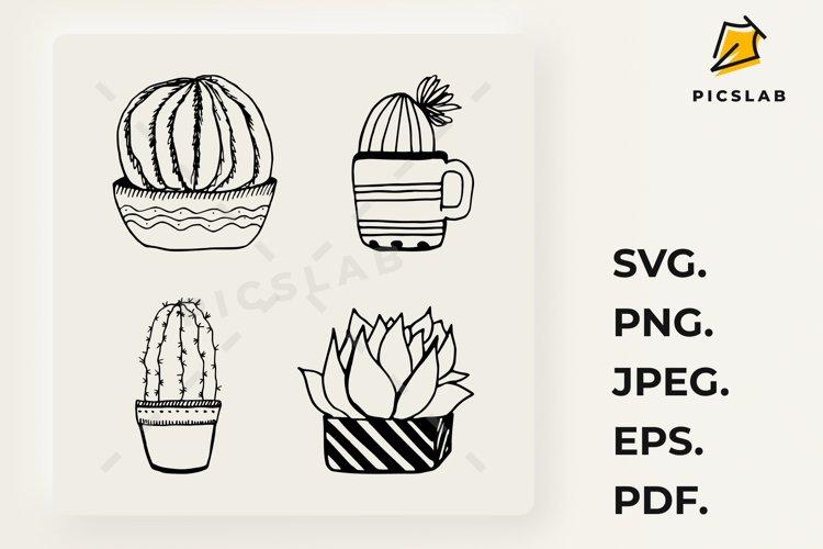 Cactus set - Cactus plant - Cactus clip art - House plants example image 1