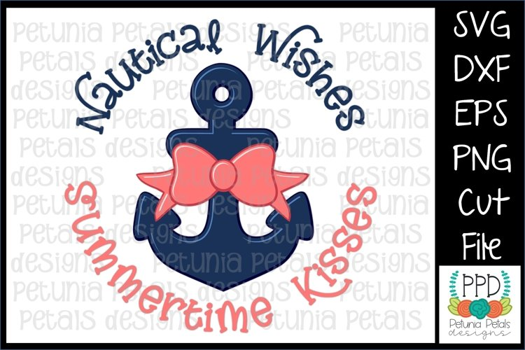 Nautical Wishes Summertime Wishes SVG 11274 example image 1