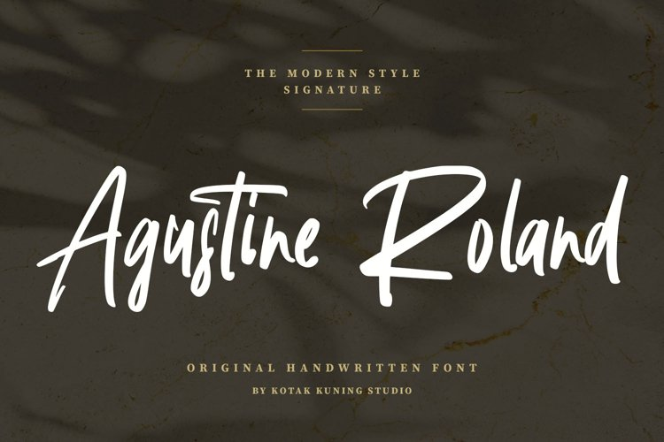 Handwritten Signature - Agustine Roland Font example image 1