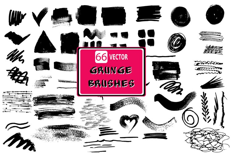 66 Grunge brushes set 1 example image 1