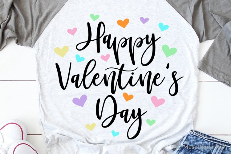 Happy Valentines Day Svg, Sweethearts Love Svg, Kids Svg example image 1