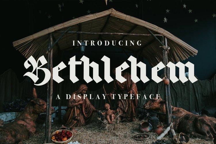 Web Font Bethlehem example image 1