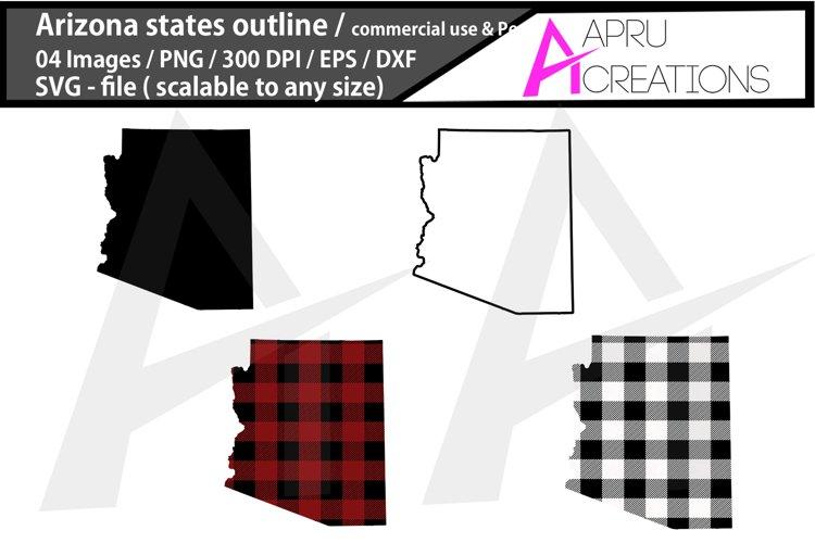 arizona vector map / arizona outline / arizona plaid example image 1