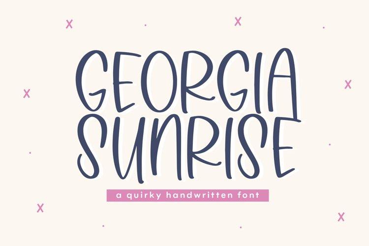 Georgia Sunrise - A Fun Handwritten Font