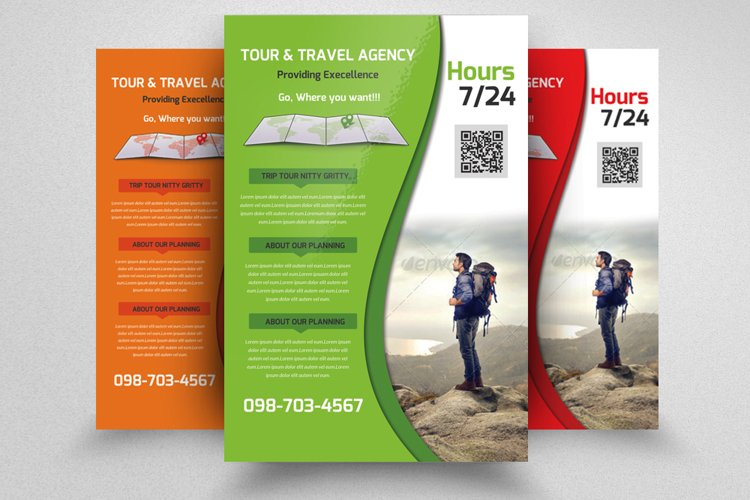 Tour Guide Service Flyer Template example image 1