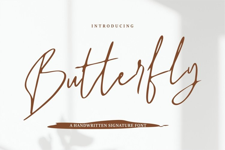 Butterfly - A Handwritten Signature Font example image 1