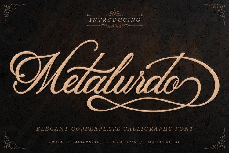 Classic Script - Metalurdo Calligraphy Font example image 1