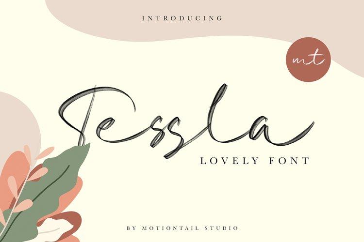 Tessla Lovely Font example image 1