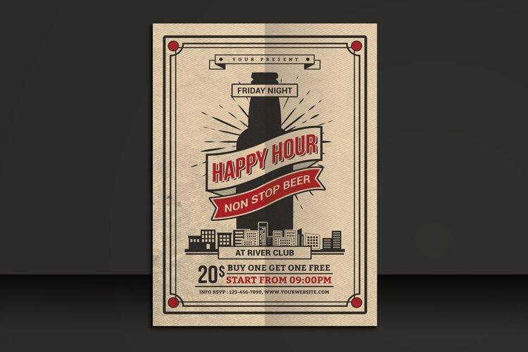 Happy Hour Beer Flyer example image 1