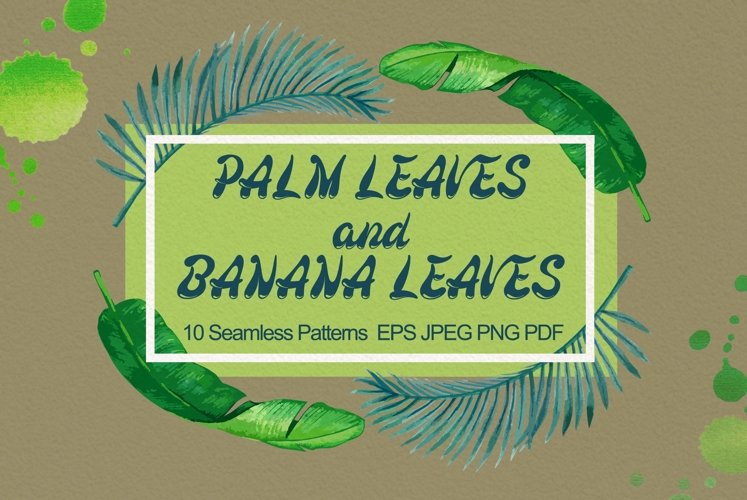 Palm and Banana Leaves Patterns example image 1