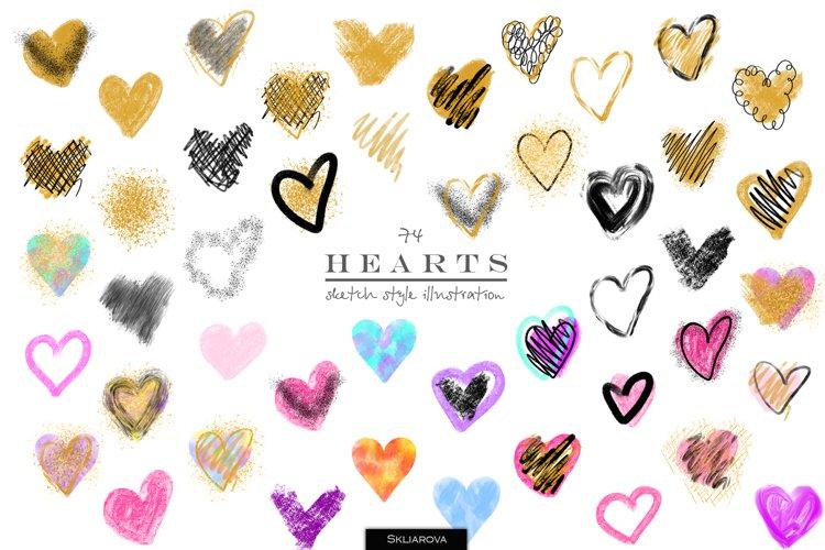 Stylish hearts