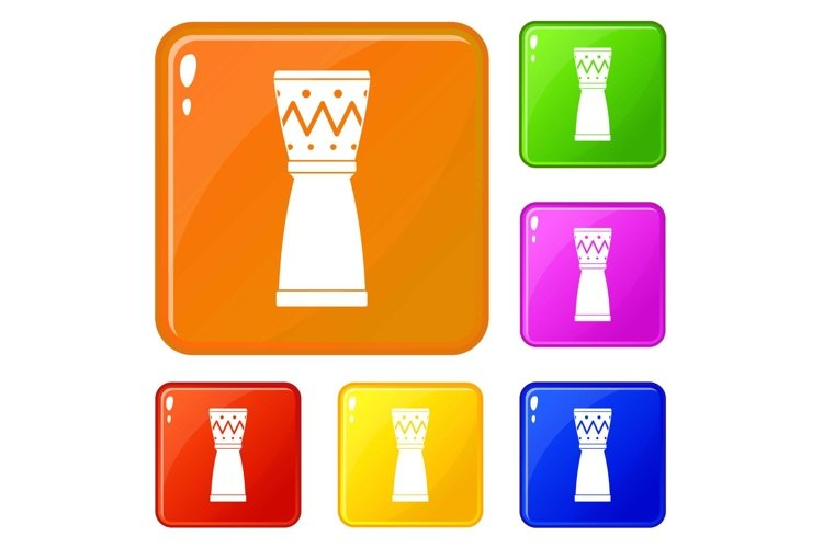 Tamtam icons set vector color example image 1