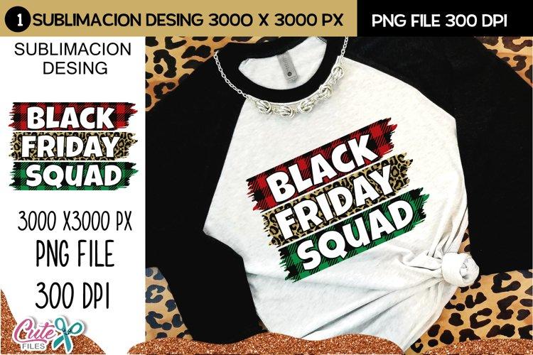 Black friday squad sublimation desing example image 1