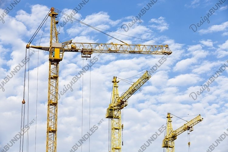 three construction metal crane example image 1
