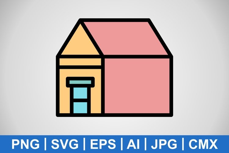 Vector Mansion Icon example image 1