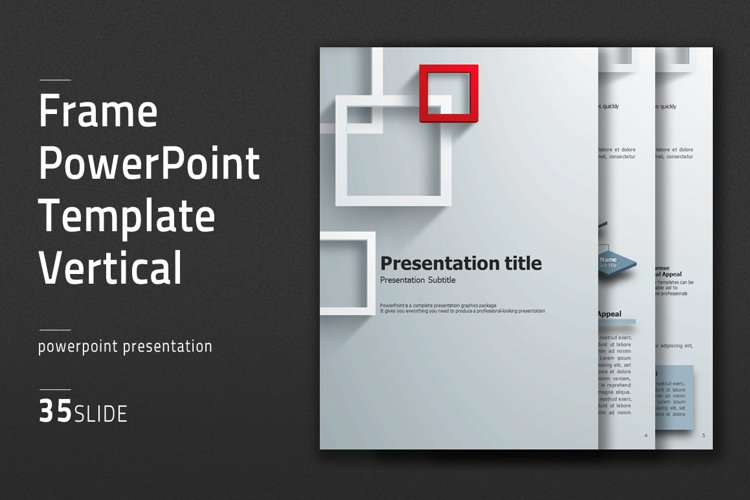 Frame PowerPoint Template Vertical example image 1