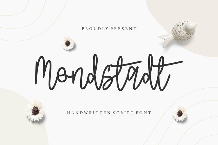 Web Font Mondstadt Display Font example image 1