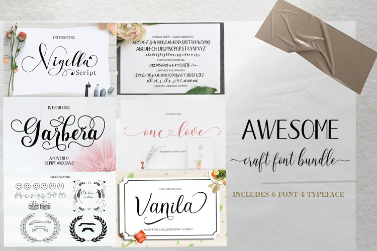 Awesome Font Bundles example image 1
