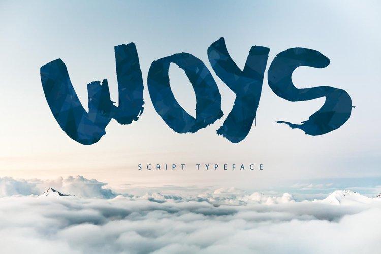 Woys Brush Typeface example image 1