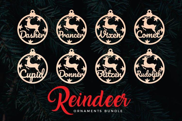 Reindeer Christmas Ornaments Bundle example image 1