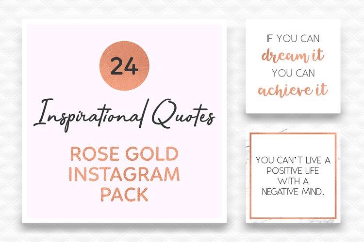 Rose Gold Instagram Quotes | Social Media Templates