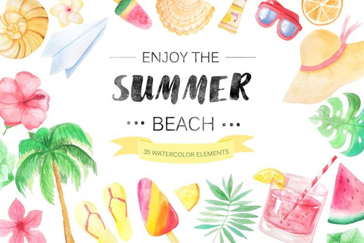 Watercolor Beach Set example
