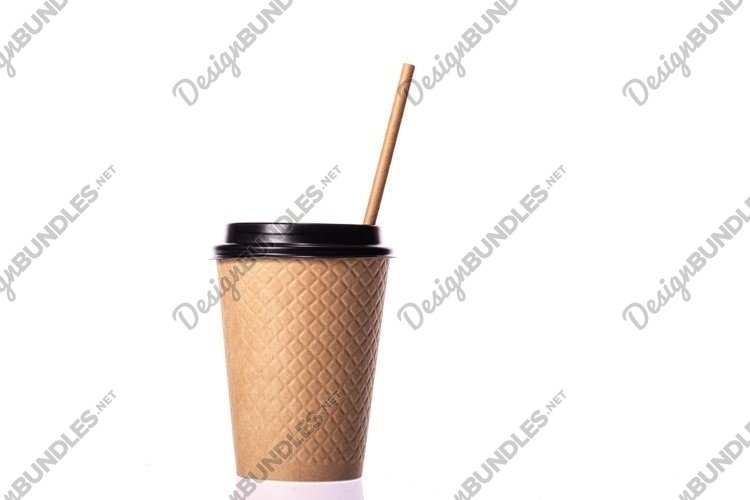 take away disposable paper coffee cup isolated example image 1