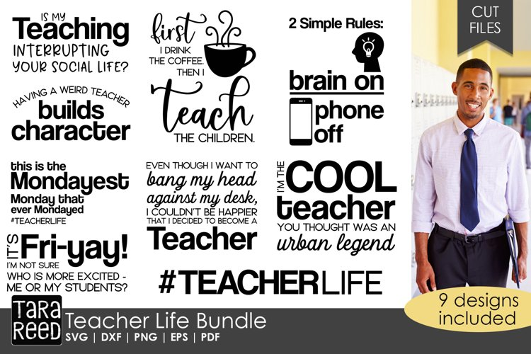 Teacher Life - Teacher SVG and Cut Files for Crafters example image 1